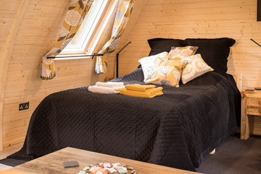 Bed at The Owlery Self Catering Chalet Salen Ardnamurchan Scotland