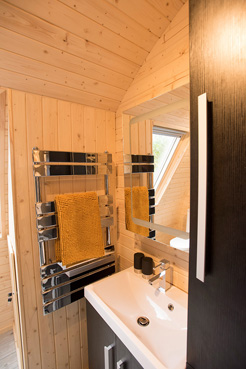 Shower Room at The Owlery Self Catering Chalet Salen Ardnamurchan Scotland