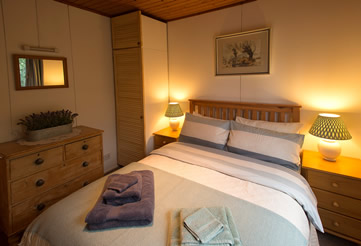 Double bedroom at Self Catering Chalet Salen Ardnamurchan Scotland